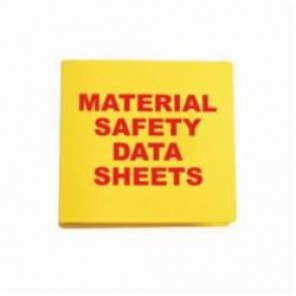 Brady® Prinzing® BR825A Standard MSDS Binder With Insert, MATERIAL SAFETY DATA SHEETS, English, Red on Yellow, 3 in Ring