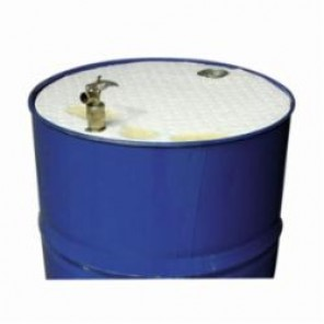 Brady® DTO25 Industrial Drum Top Cover, 22 in Dia, For Use With 55 gal Drum, Polypropylene, White