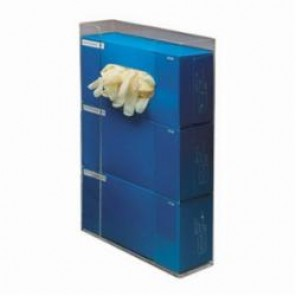 Brady® Prinzing® GD03 Triple Box Glove Dispenser, 10.93 in W, Acrylic Glass, Clear, Wall/Table Top Mount