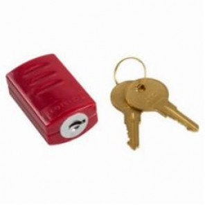 Brady® QB0033 Stopower™ Keyed Alike Plug Lockout, Red