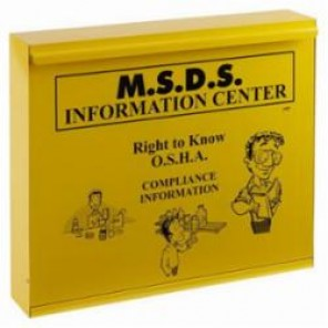 Brady® Prinzing® RK622E MSDS Cabinet, MSDS Information Center, English, Yellow, 22-1/2 in H x 26-1/2 in W