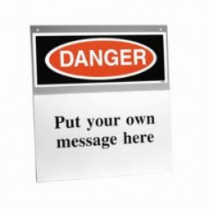 Brady® Prinzing® SH114D Danger Sign Holder, Gray/White on Black/Red