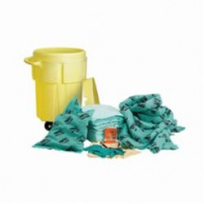 Brady® SKH-55W Portable Spill Kit With Wheels, 70 Pieces, 55 gal Drum