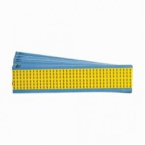 Brady® WM-6-YL-PK Pre-Printed Solid Number Wire Marker Card, 1-1/2 in L x 1/4 in W, Black/Yellow, B-500 Vinyl Cloth