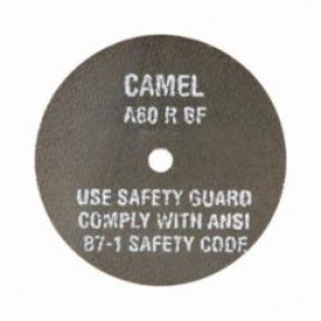 CGW® 35504 Type 1 High Speed Reinforced Straight Cut-Off Wheel, 3 in Dia x 1/8 in THK, 1/4 in, 24R Grit, Aluminum Oxide Abrasive