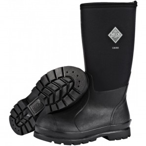 Muck Chore Classic Hi Plain Toe Black Work Boot