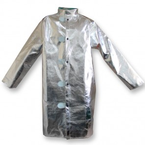 "CPA Chicago Protective Apparel 602-AR Aluminized 45"" Jacket Rayon, Extra Large"