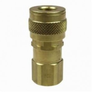 Coilhose® 150U Coilflow U Type 15 Universal Coupler, 1/4 x 1/4 in, FNPT, Brass, Domestic