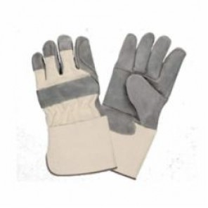 Cordova 7550-XL Double Palm Gloves, XL, Heavy Side Split Leather Palm, White, Gunn Cut, Canvas