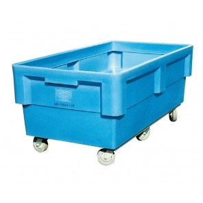 """POLY BOX TRUCKS, Cap. Bu.: 16, Size L x W x H: 42 x 28 x 35"""", Caster Size: 4"""""""