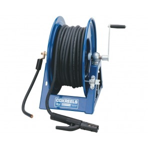 """HAND CRANK WELDING CABLE REELS, Cable Cap. By Gauge #2: 600', Cable Cap. By Gauge #1: 500', Cable Cap. By Gauge #1/0: 400', Cable Cap. By Gauge #2/0: 300', Size W x H x L: 24-3/4 x 18-1/2 x 17-1/2"""""""