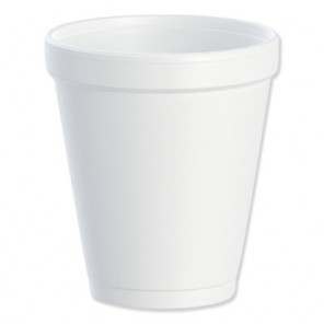 Dart® DCC8J8 Insulated Foam Drink Cups, 8oz, White, 25/Bag, 40 Bags/Case