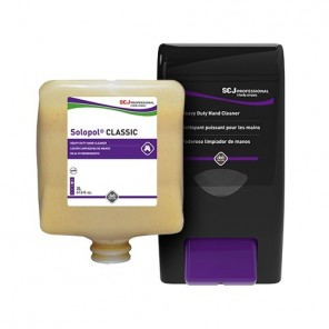 Solopol Classic Solvent-Free Heavy Duty Hand Cleaner, (4) 2-Liter Cartridges per Case
