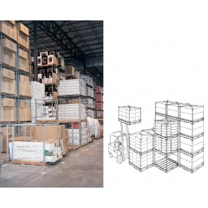 """TIER-RACK™"" DYNA PALLET STACKING FRAMES, Pallet Size D x W: 48 x 40"", Blue, Load Height: 48"""