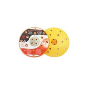 Dynabrade® 54331 Vacuum Disc Backing Pad With 5 Screws, 44 Holes, 6 in Dia, 5/16-24 Female, Hook Attachment, Foam