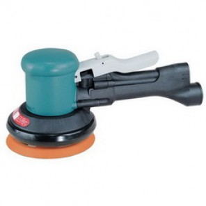 Dynabrade® DynaLocke® 58461 Self-Generated Vacuum Dual Action Sander, 3 in Round Pad, 23 scfm, 90 psi (Bare Tool)