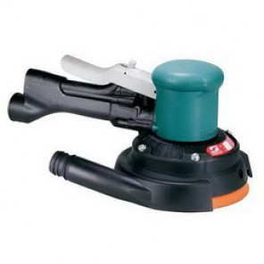 Dynabrade® 58443 Central Vacuum Two-Hand Gear Driven Sander, 6 in Pad, 0.45 hp, 23 scfm, 90 psi (Bare Tool)