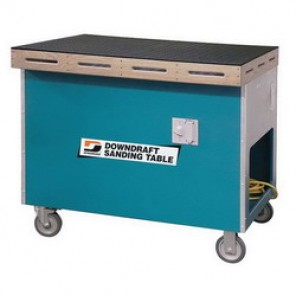 Dynabrade® 64201 Sanding Downdraft Table, 33 in W x 41 in L, 1 hp, 115 VAC, 1 Phase, 60 Hz, 3000 cfm, 1 Micron