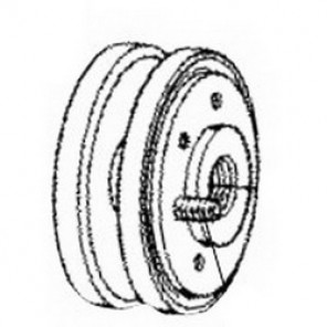 Dynabrade® 98087 Hub, 5/8-11 Arbor, For Use With Dynacushion® 94434 Pneumatic Wheel, Aluminum