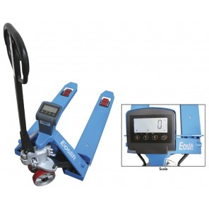 """SCALE PALLET TRUCK, Scale Pallet Truck, Fork Size: 27 x 48"""", Raised Height: 7.9"""", Lowered Height: 3"""", Fork Width: 7.2"""""""