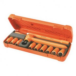 Facom® FC-S.400AVSE Metric Insulated Socket Set, 12 Pieces, 1/2 in Drive