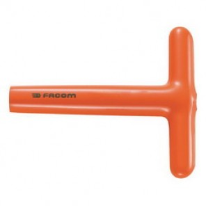 Facom® FM-94T.11AVSE Insulated Non-Ratcheting Nut Driver, 11 mm Drive, 5-3/4 in OAL, Hex Shank, Orange