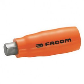 Facom® FM-JT.10AVSE Metric Standard Length Insulated Bit Socket, 10 mm Bit, 3/8 in Square Drive