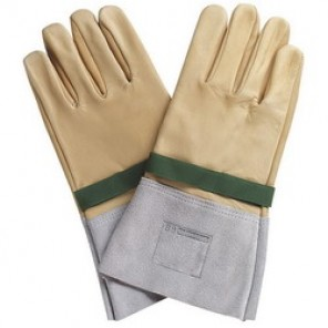 Facom® FT-BC.109VSE Electrical Glove Protector, SZ 9, Beige/Gray, Silicon Leather