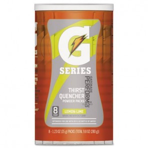 Gatorade® 308-13163 Powder Packet, 1.34 oz, 20 oz, Lemon Lime