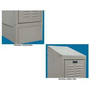 "LOCKER ACCESSORIES, Closed Front Base, Size: 12""W."
