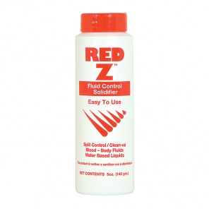 BODY FLUID SOLIDIFIER, Red-Z, powder, deodorizes/solidifies spills, 5 oz.