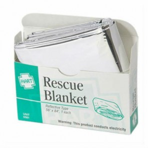 RESCUE BLANKET Hart 0581 Mylar type 56 x 84""""