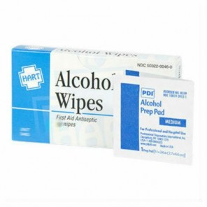 Hart 2601 Alcohol Wipes Isopropyl 70% Medium 200/Box