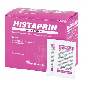 HISTAPRIN, Allergy Relief, HART Industrial Pack, 25 mg caplets, 50/1's per Box