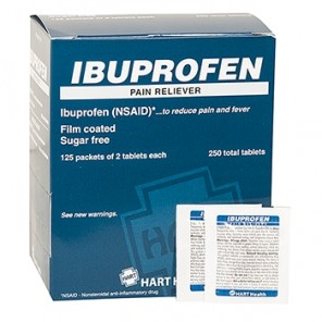 IBUPROFEN PAIN RELIEVER, HART INDUSTRIAL PACK 200mg, 125/2'S BOX 5654