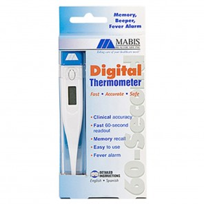 Thermometer, Electronic, Digital with Beeper, Battery & Case