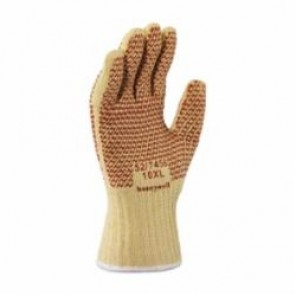 North® by Honeywell 52/7457 Reversible Hot Mill Gloves, M, Nitrile Palm, Yellow/White