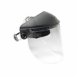North® by Honeywell F500BP Faceshield Headgear, For Use With Faceshield Visors, Ratchet Suspension, Noryl, Gray