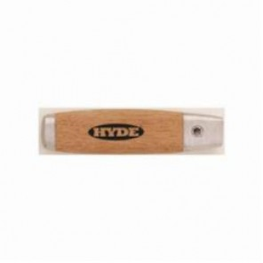 Hyde® 63170 Mill Blade Handle, For Use With 3/8 in Blade, Hardwood/Solid Aluminum Casting, Beige