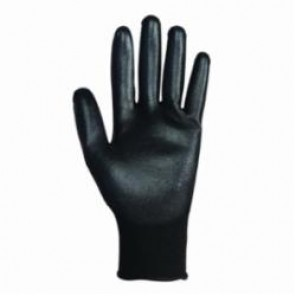 Jackson Safety; G40 Coated Gloves, SZ 9/L, Polyurethane Palm, Black, Polyurethane/Nylon