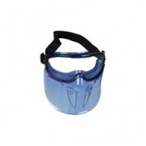 Jackson Safety; V90 Shield; Safety Goggles With Polycarbonate Shield and Headband, Universal, OTG Blue Frame, Anti-Fog