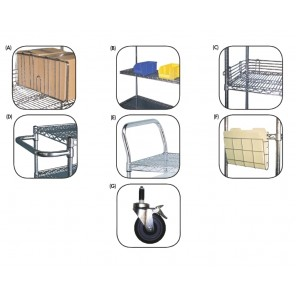 JAKEN WIRE SHELVING - CHROME ACCESSORIES, A) Chrome Shelf Divider, Size: 18""