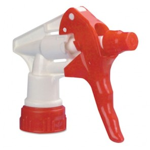 "Boardwalk 09229 Trigger Sprayer 250, for use with 32 oz Bottles, Red/White, 9 1/4"" Tube"