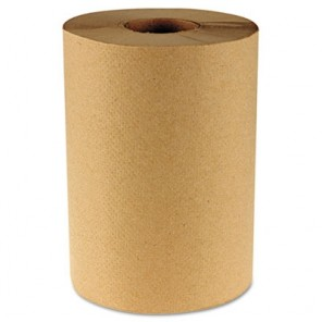 Boardwalk BWK6252 Hardwound Paper Towels 1-Ply Natural 350ft 12 Rolls/Carton