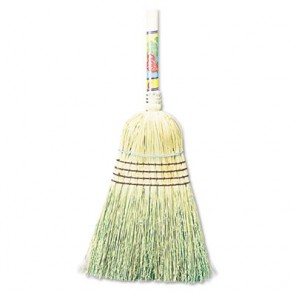 "Boardwalk® BWK932CCT Warehouse Broom, Corn Fiber Bristles, 56"" Overall Length, Natural"