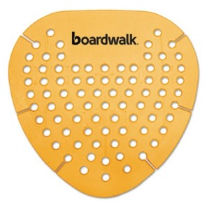 Boardwalk BWKGEMMAN Gem Urinal Screen, Lasts 30 Days, Orange, Mango Fragrance, 12/Box