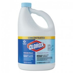 Concentrated Germicidal Bleach, Regular, 121oz Bottle, 3/Carton CLO30966CT