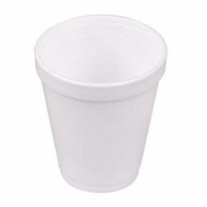 Dart® 6J6 Insulated Small Drink Cup, 6 oz, Round, Styrofoam, White
