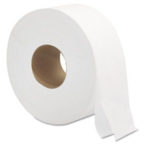 9Jumbo Roll Bath Tissue 2-Ply White
