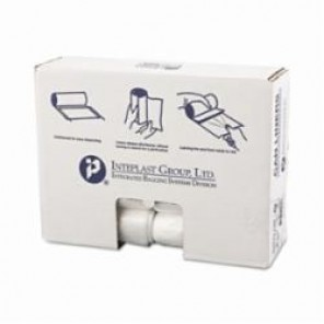 Inteplast Group IBS VALH2433N8 High Density Can Liner, 16 gal, 7 mic, 31 in L x 24 in W, Formosa Resin, Clear